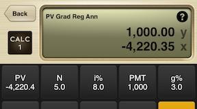present value of a graduated regular annuity calculator calc 1