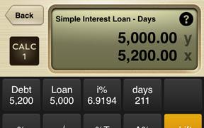 simple interest loan calculator days calc 1